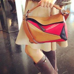 Loewe Puzzle Small Leather Shoulder Bag @ Rue La La