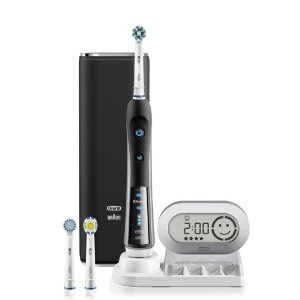 Oral-B Pro 7000 SmartSeries Black Electronic Power Rechargeable Battery Electric Toothbrush with Bluetooth Connectivity Powered by Braun: Beauty