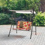 $79 Mainstays 2-Person Padded Swing, Floral