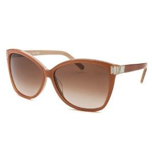 Chloe Women's Square Two-tone Brown Sunglasses