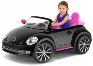 Kid Trax VW Beetle Convertible 12-Volt Battery-Powered Ride-On (Black)