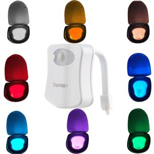 Oenbopo Colorful Motion Sensor Toilet Nightlight