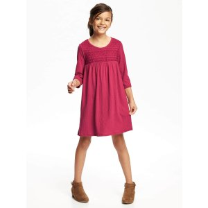 Swing Crochet-Yoke Dress for Girls | Old Navy