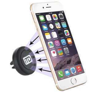 iTD GEARⓇ Air Vent Magnetic Universal Smartphone Car Mount Holder, compatible with the iPhone 6, 6S, 6 Plus, Samsung Galaxy 5, 6, Edge, HTC 1, LG G4, Nexus Phone and more