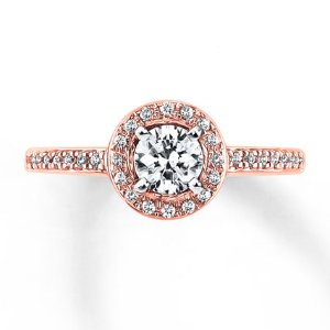 Kay - Diamond Engagement Ring 5/8 ct tw Round-cut 14K Two-Tone Gold