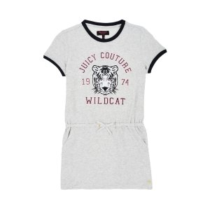 GIRLS FASHION TRACK GRAPHIC FRENCH TERRY DRESS