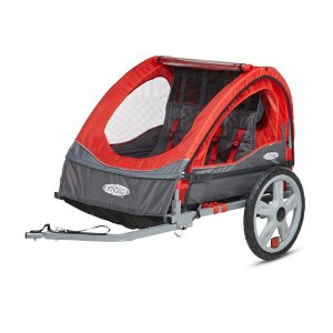 Amazon.com : InStep Take 2 Double Bicycle Trailer, Red : Sports & Outdoors