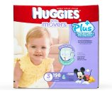 Huggies Little Movers Plus+ 198 Diapers Size 3