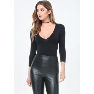 Deep V-Neck Bodysuit - All New Arrivals | bebe