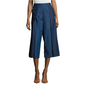 Tailored Wide Leg Denim Trouser by Plenty By Tracy Reese at Gilt