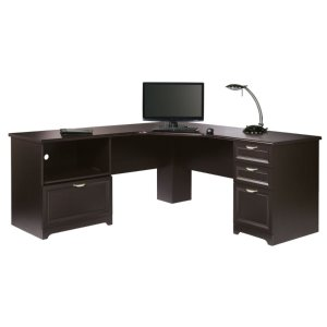 Realspace® Magellan Performance Collection L Desk, Espresso