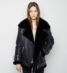 Up to $900 Gift Card Acne Studios Oversized Shearling & Leather Jacket @ Saks Fifth Avenue