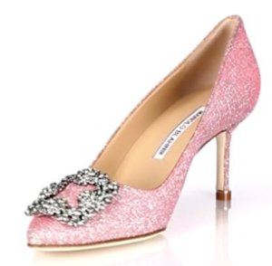 $785(Org. $985) Manolo Blahnik Hangisi Jeweled Pumps @ Saks Fifth Avenue