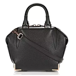 MINI EMILE IN PEBBLED BLACK WITH ROSE GOLD - BLACK by Alexander Wang