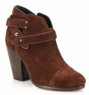 Up to 58% Off Rag & Bone Harrow Suede Booties Sale  @ Saks Off 5th