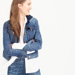Denim Jacket In Tyler Wash女士长袖牛仔外套