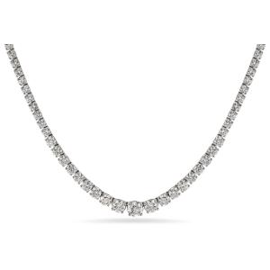 Stunning Graduated Diamond Necklace - in 18kt White Gold - (10.80 CTW) | Ritani