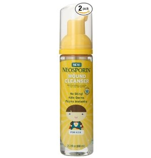 Neosporin First Aid Antiseptic Foam for Kids, 2.3 Fluid Ounces (Pack of 2)