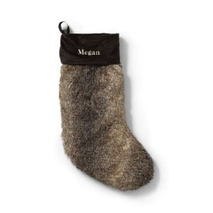Faux Fur Stocking from Lands' End