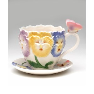 Cosmos Pansy Cup & Saucer | zulily