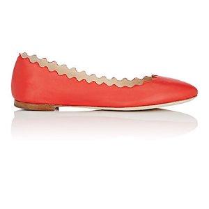 Chloé Lauren Leather 波浪纹平底鞋