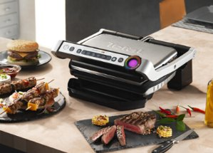 $69.99T-Fal GC704 OptiGrill Stainless, Black, Red, or Blue