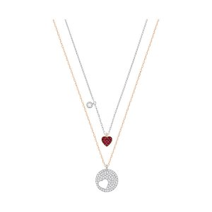Crystal Wishes Heart Pendant Set, Red - Jewelry - Swarovski Online Shop