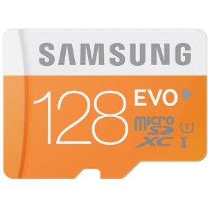 $24.88(原价$84.99)Samsung EVO 128GB  microSDXC 存储卡 带卡套