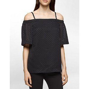 jacquard off-shoulder top