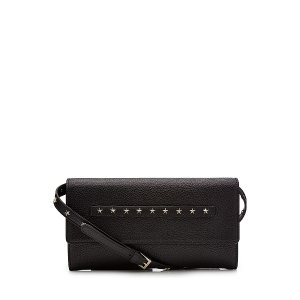 Leather Clutch with Shoulder Strap  from RED VALENTINO | Luxury fashion online | STYLEBOP.com
