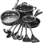 Cuisinart - Pro Classic 13-Piece Aluminum Cookware Set - Black
