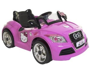 $99 Dynacraft Hello Kitty 6V Sports Car Battery-Powered Ride-On