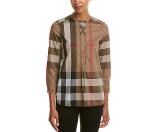 Burberry Check Cotton Tunic Shirt