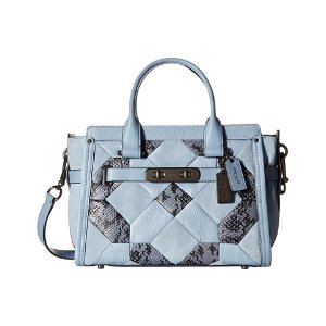 COACH Exotic Patchwork Coach Swagger 27 DK/Cornflower