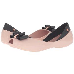 Melissa Shoes Queen V Pink/Black - 6pm.com