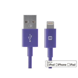 Select Series Apple® MFi Certified Lightning™ to USB Charge & Sync Cable, 10ft Purple