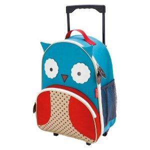 Skip Hop Zoo Little Kids & Toddler Rolling Travel Luggage, Owl : Target