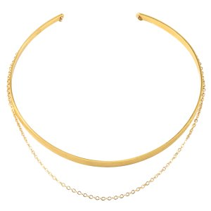 Draped Chain Collar Choker, Gold Dipped | Dogeared