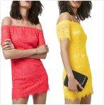 $34.99 Topshop Off the Shoulder Lace Dress On Sale @ Nordstrom