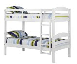 W. Designs White Twin Solid Wood Bunk Bed | Bon-Ton