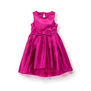 Baby Girl Sweet Plum Satin Bow Dress at JanieandJack