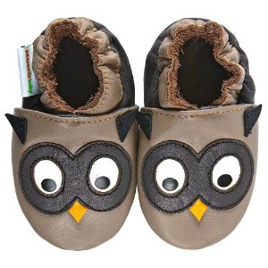 Momo Baby Soft Sole Leather Crib Bootie Shoes - Owl - Rakuten.com