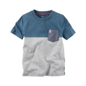 Kid Boy Colorblock Pocket Tee   Carters.com