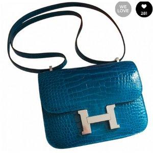Blue Exotic leathers Handbag Constance