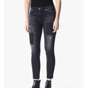 THE ANKLE SKINNY WITH CLEAN PATCHES IN BLACK SHADOW