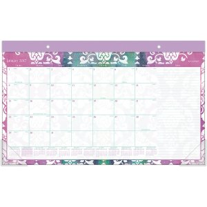 AT-A-GLANCE® 2017 Taryn Compact Monthly Desk Pad (D142-705_17) - AT-A-GLANCE