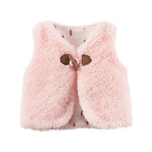 Baby Girl Sherpa Vest   Carters.com
