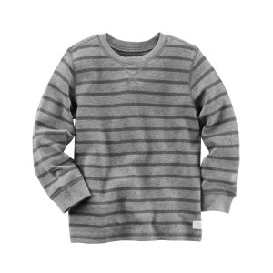 Long-Sleeve Striped Thermal Tee | Carters.com