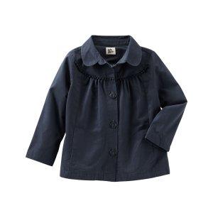 Toddler Girl PomPom Trim Jacket | OshKosh.com