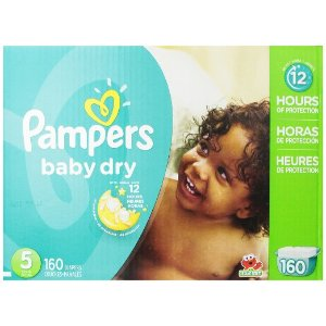 Amazon.com: Pampers Baby Dry Diapers Economy Pack Plus, Size 5, 160 Count: Health & Personal Care